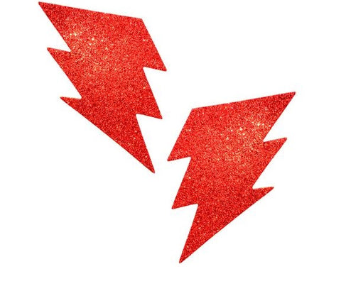 Ravish Me Red Glitter Storm Surge Bolt Pasties