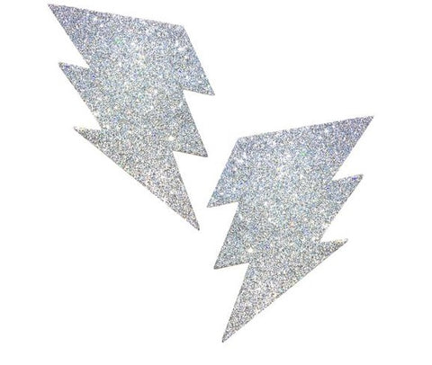 Silver Pixie Dust Glitter Bolt Pasties