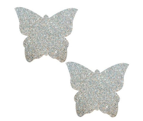 Silver Pixie Dust Glitter Butterfly Pasties