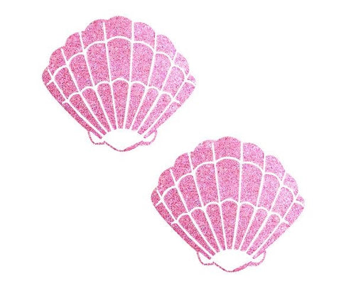 Sparkle Pony Pink Glitter Mermaid Shell Pasties