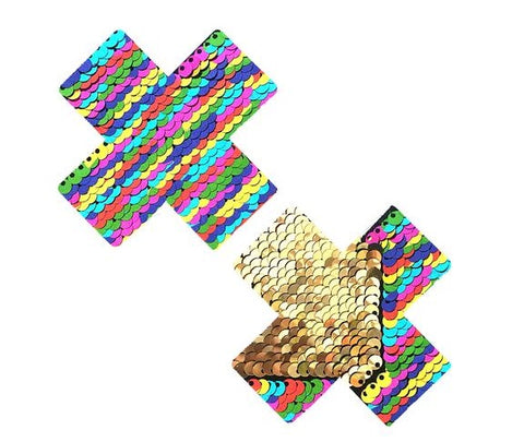 FunFetti Multicolor Gold Flip Sequin X Factor Nipztix