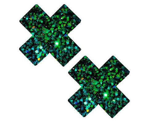 Super Sparkle Green Envy Chunky Glitter X Factor Pasties