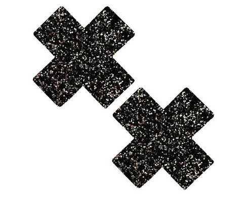 Super Sparkle Black Tinsel Town Chunky Glitter X Factor Pasties