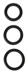 Silicone Cock Rings 3 Sizes Black