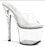 Pleaser Dia Clear Platform