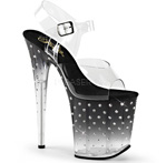 Pleaser Platform with Diamond Details