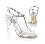 Pleaser Fabulicious Metallic Sandals