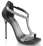 Pleaser Fabulicious Sandals with Glitter