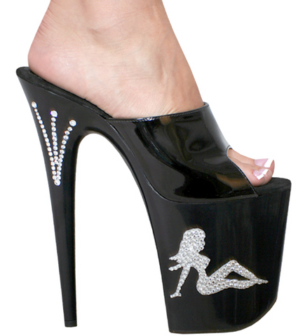 Karo Shoes 3206 Black With Swarovski