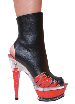 Karo Shoes 3345 Black with Red Leather