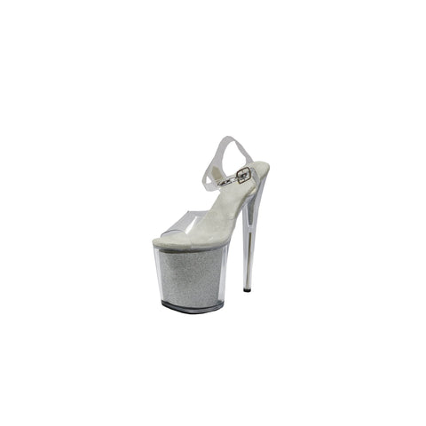 Amor Silver and Clear Platform