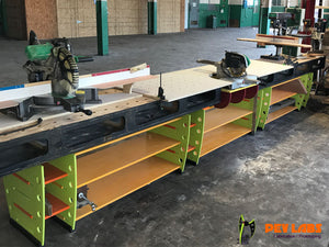 PEV Labs Fabrication Shop Flat Pack Miter Saw Bench