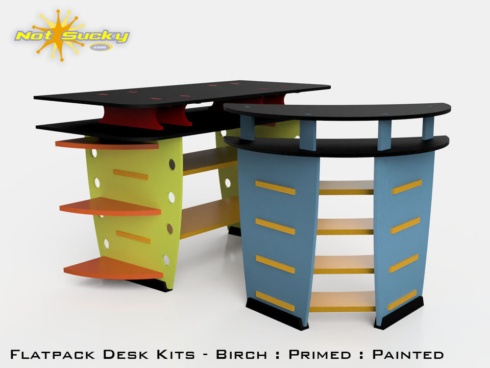Flat Pack Desk Collection by Not Sucky
