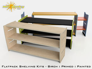 Flat Pack Shelving Collection by Not Sucky