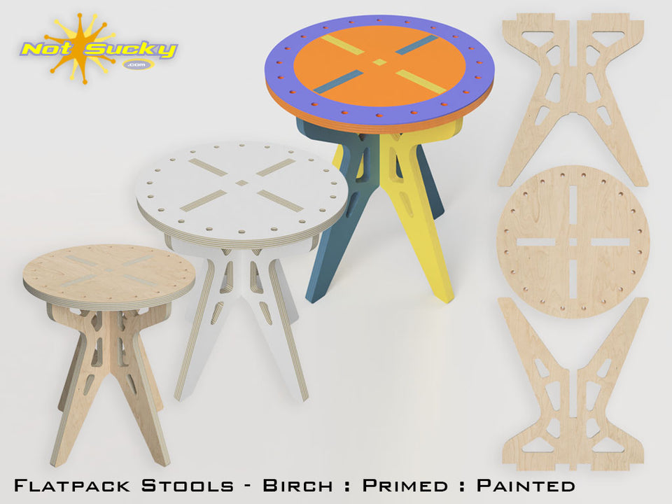 Flat Pack Stool Collection by Not Sucky