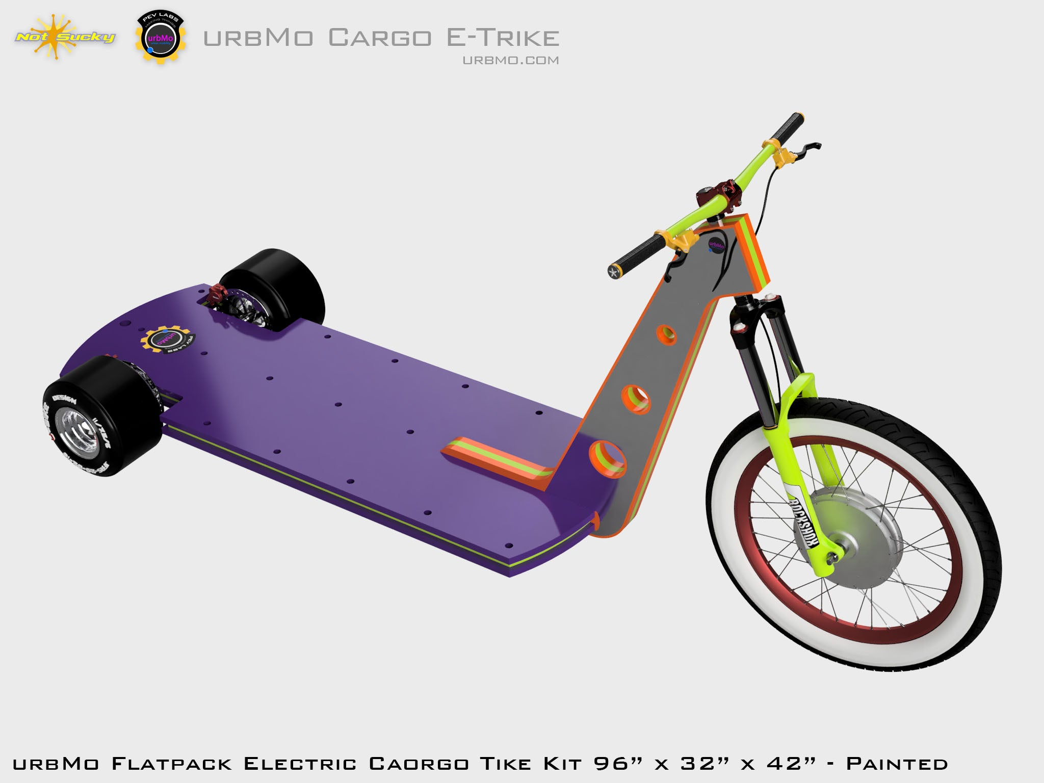 Flat Pack Cargo Scooter Electric Vehicle Kit