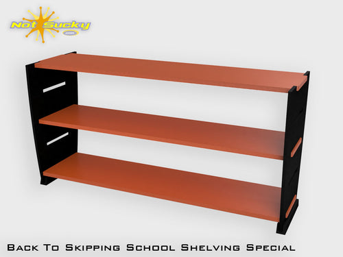 Back To School Flatpack Shelving Special Black / Orange