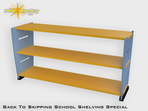 Back To School Flatpack Shelving Special Spa Blue / Marigold
