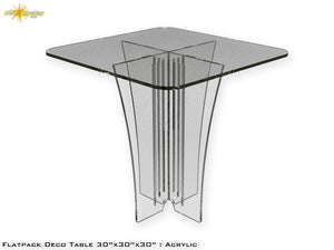 Flat Pack Deco Table : Acrylic