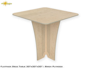 Flat Pack Deco Table : Birch  Plywood
