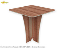 Load image into Gallery viewer, Flat Pack Deco Table : Cherry Plywood