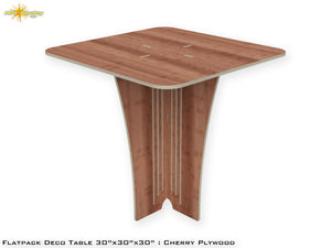 Flat Pack Deco Table : Cherry Plywood