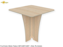 Load image into Gallery viewer, Flat Pack Deco Table : Oak  Plywood