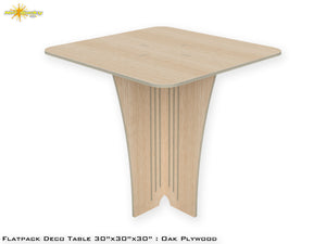 Flat Pack Deco Table : Oak  Plywood