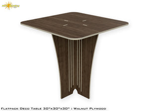 Flat Pack Deco Table : Walnut Plywood