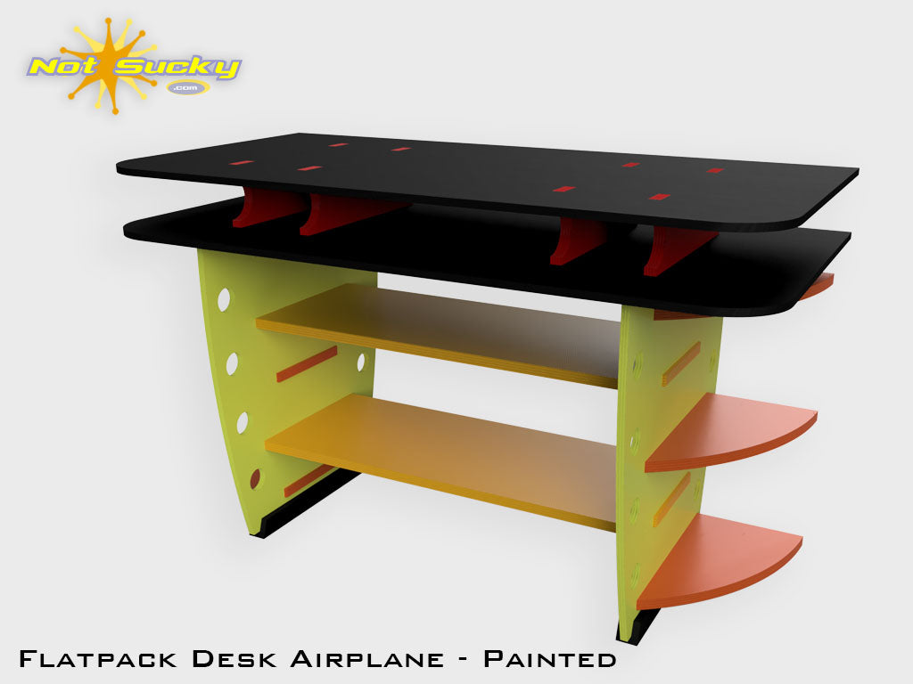 Flat Pack Desk Kit Airplane : Painted