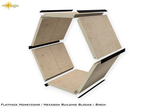 Flat Pack Hexagon Panel Kit with Joinery Splines