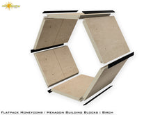 Load image into Gallery viewer, Flat Pack Hexagon Panel Kit - Birch Plywood