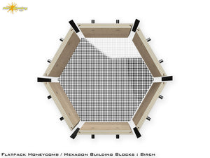 Flat Pack Hexagon Panel Kit - Birch Plywood
