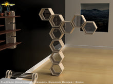 Load image into Gallery viewer, Flat Pack Honeycomb Shelving Kit - Hexagon Shelves