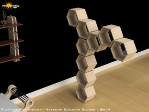 Flat Pack Honeycomb Shelving Kit - Hexagon Shelving Tree