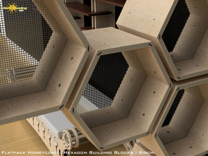 Flat Pack Honeycomb Shelving Kit - Hexagon Shelves
