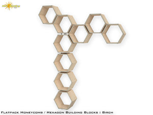 Flat Pack Honeycomb Shelving Kit - Hexagon Shelves - No Dividers