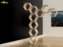 Load image into Gallery viewer, Flat Pack Honeycomb Shelving Kit - Hexagon Shelves - No Dividers