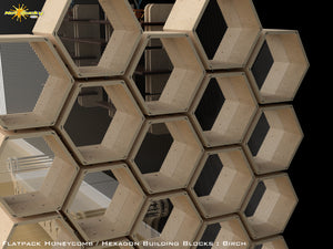 Flat Pack Honeycomb Shelving Kit - Hexagon Shelving Room Divider with Screens