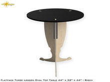 Load image into Gallery viewer, Flat Pack Pedestal Table Kit Oval : Stain Black Top