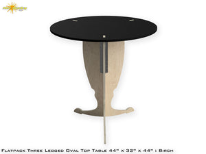 Flat Pack Pedestal Table Kit Oval : Stain Black Top