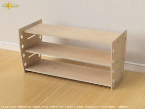 Flat Pack Retro Shelving Kit - Veneer Plywood Birch