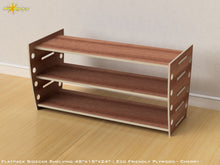 Load image into Gallery viewer, Flat Pack Retro Shelving Kit - Veneer Plywood Cherry