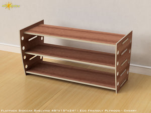 Flat Pack Retro Shelving Kit - Veneer Plywood Cherry