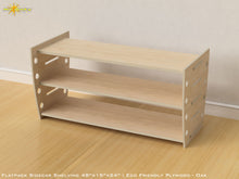 Load image into Gallery viewer, Flat Pack Retro Shelving Kit - Veneer Plywood Oak