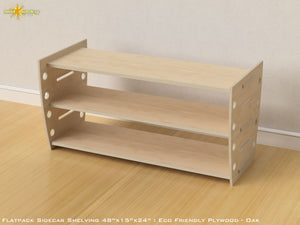 Flat Pack Retro Shelving Kit - Veneer Plywood Oak