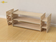 Load image into Gallery viewer, Flat Pack Retro Sidecar Shelving Kit - Veneer Plywood Birch