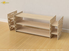 Load image into Gallery viewer, Flat Pack Retro Sidecar Shelving Kit - Veneer Oak