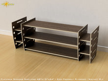 Load image into Gallery viewer, Flat Pack Retro Sidecar Shelving Kit - Veneer Plywood Walnut