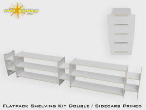 Shelving Kit Double with Sidecars : Primer